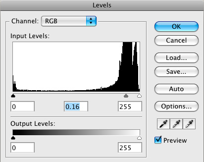 Levels Adjustment Layer