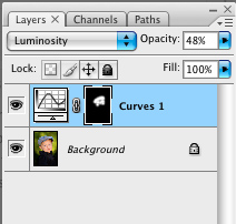Set the Layer Blending Mode to Luminosity, adjust Opacity to taste.